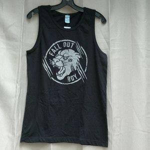 NWT Fall Out Boy Tiger Graphic Muscle Tank